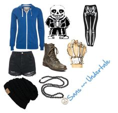 """""""Sans •~• Undertale"""" by purpleplay ❤ liked on Polyvore featuring мода, Topshop, Helix & Felix и Steve Madden"""