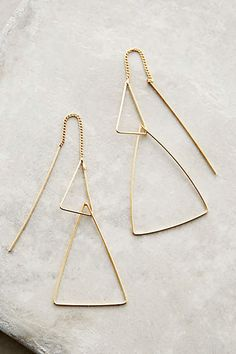 Threaded Angle Earrings - anthropologie.com #anthrofave