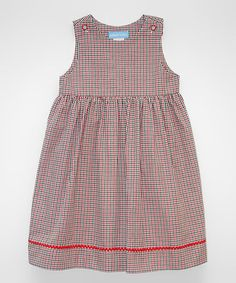 Another great find on #zulily! Red & Black Check Jumper - Infant, Toddler & Girls #zulilyfinds
