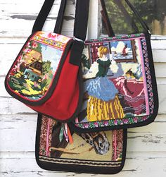 Tapestry bags by 2 dutch sisters