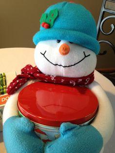 Let a sassy snowman present your #Christmas cookies! #regift #reuse #resale