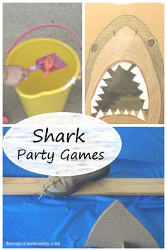 Shark Party Games | There's Just One Mommy