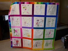 preschool quilt. I'm going to do this with my older boys but do one for each month
