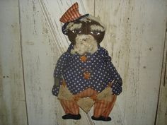 Black Uncle Sam with Banner Primitive Rustic by YorkiesPrimitives