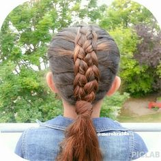 Feathered frenchbraid into a ponytail