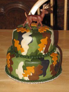 hunting cakes | Small Camo deer hunting cake — Birthday Cakes