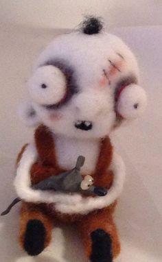 Oliver the little zombie boy ooak Art doll on Etsy, $59.00