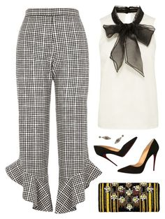 """""""THESE PANTS!!!!!!! HEARTS x1000000000"""" by kearalachelle ❤ liked on Polyvore featuring Coast, River Island, Christian Louboutin and Miguel Ases"""