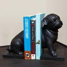 Playful Pug Dog Bookends, from GreatGiftsforMen.com