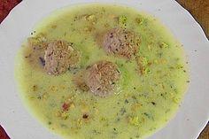 Zucchinisuppe mit Hackbällchen (Rezept mit Bild) von mima53 | Chefkoch.de