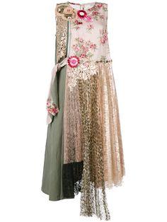 ANTONIO MARRAS Layered Print Dress. #antoniomarras #cloth #dress