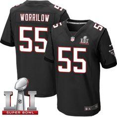 Nike Falcons #55 Paul Worrilow Black Alternate Super Bowl LI 51 Men's Stitched NFL Elite Jersey