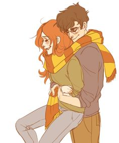 """How come she married him?"" Harry asked miserably, ""She hated him!"" ""Nah, she didn't,"" said Sirius. ""She started going out with him in seventh year,"" said Lupin. ""Once James had deflated his head a bit,"" said Sirius. ""And stopped hexing people just for the fun of it,"" said Lupin.// <3"
