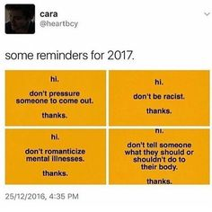 Hi. Remember to be a decent human being. Thanks.