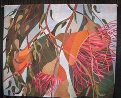 Ruth de Vos - celebrating a wonderful world in stitch I love the details in her quilts! Australian Native Flowers, Australian Wildflowers, Australian Art, Simple Oil Painting, Landscape Art Quilts, Vision Art, Flower Quilts, Textiles, Contemporary Quilts