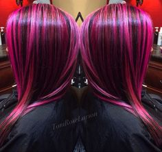 """Berry Delight"" berry color melt hair color by Toni Rose Larson. #hotonbeauty instagram.com/hotonbeauty"