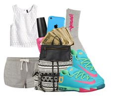 """""""Untitled #656"""" by freestylebydembaes ❤ liked on Polyvore featuring Anenberg, NIKE, H&M, OPI and Steve Madden"""