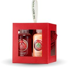 Treat someone to a little bit of sweetness this festive season. This adorable gift cube of mini bath and body treats is scented with fruity strawberry.