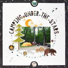 Camping Under the Stars - Scrapbook.com