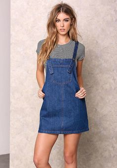 2ad691dec34 Denim Classic Overall Jumper - Day Dresses - Dresses Jumper Skirt Denim, Jeans  Dress,