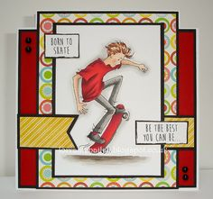 LOTV - Oliver Skateboard with Teenage Boy Sentiments by Lorraine Bailey Hobbies For Couples, Hobbies For Kids, Cheap Hobbies, Boy Cards, Kids Cards, Cute Cards, Men's Cards, Birthday Cards For Boys, Man Birthday