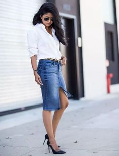 saia-lapis-jeans-camisa-branca-look-escritorio-how-to-steal-the-look