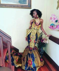 African Ankara Prom Dress, Ball Dress, Women's Clothing, African Clothing