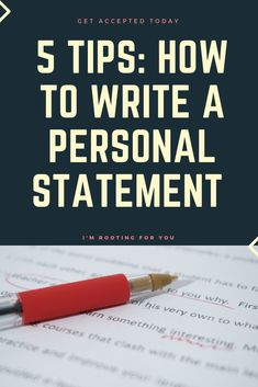 Preparing for College? Grad School Prep Stressing you out? Medical School Personal statement writer's block? Law School or Nursing School applications in need of a masterful Personal Statement. These 5 tips on how to write a personal statement have you covered.