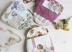 These Lovely Pouches are Fun to Make and to Give - Quilting Digest Sewing Crafts, Sewing Projects, Local Craft Fairs, Sydney, Luanna, Pouch Pattern, Pattern Images, Jewelry Case, Pdf Sewing Patterns