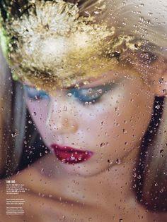 The Art of Beauty! Frida Aasen by Marilyn MInter for V Magazine