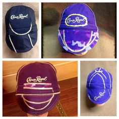 https://www.etsy.com/shop/itchintobestitchen WELDERS CAPS using Crown Royal liquor bags.  Customized and reversible side your choice. $25.00