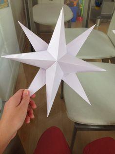 Easy 3d paper star