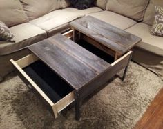 Attractive Distressed Wood Coffee Table Featuring Knots And Distresses. Contemporary  Design Ideas