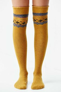 Patterned Over-The-Knee Sock