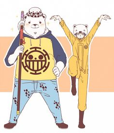 Tags: Bear, ONE PIECE, Trafalgar Law, Outfit Switch, Bepo, Heart Pirates