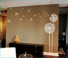 dandelion vinyl wall art from surfacejalouse.com