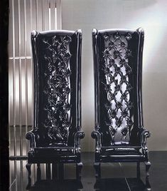 Chairs via fratelli boffi. Italian design furniture and decor. Gothic Chair, Gothic Furniture, Design Furniture, Unique Furniture, Furniture Decor, Quality Furniture, Cheap Furniture, Gothic Interior, Gothic Home Decor
