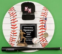 Baseball Sport Trophy Award Wall Shelf