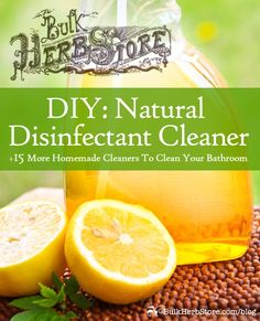 Natural Disinfectant Cleaners