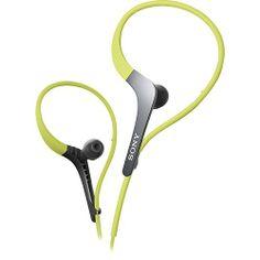 Sony Active Sports Headphones with Adjustable Ear Loop, Green Wireless Headphones Review, Best Noise Cancelling Headphones, Waterproof Headphones, Best Headphones, Sport Earbuds, Sports Headphones, Sound Design, E Design, Plastic Design
