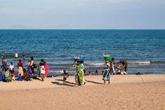 Beach scenery at Lake Malawi