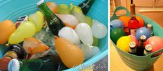 Balloon Ice Cubes to keep drinks cold