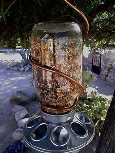 Bird Feeder Jar