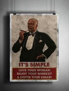 Man cave sign for cigar smokers Good Cigars, Cigars And Whiskey, Cuban Cigars, Cigar Lounge Man Cave, Cigar Quotes, Cigar Shops, Cigar Art, Cigar Humidor, Cigar Ashtray