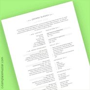 Free Legal Executive professional Word CV template