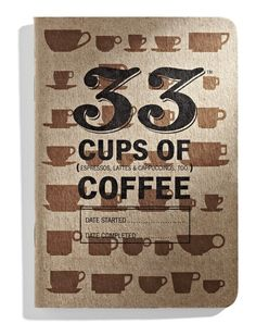 33 Coffees is a coffee journal that provides an easy way to quickly record coffee tasting notes in a small notebook designed, tested and printed in Portland, OR. Small Notebook, Notebook Design, Real Coffee, I Love Coffee, Barista, Seattle Coffee, Coffee Date, Coffee Tasting, Paper Goods