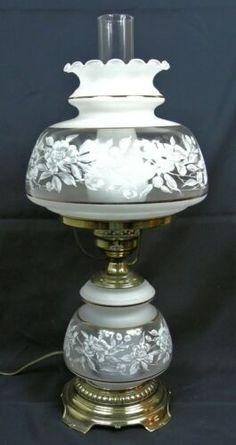 Quoizel 1 Light Satin Lace Table Lamp - for sale online Antique Oil Lamps, Vintage Lamps, Hurricane Lamp Shade, Porcelain Lamps, Victorian Lamps, Lace Table, Halloween Fashion, Tiffany Lamps, Milk Glass