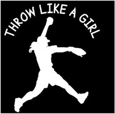 Vinyl Softball Sticker Throw Like A Girl Vehicle by StoneEffectsMD, $5.95