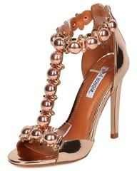 f750d43b8f5 ALZA40 ROSE GOLD METALLIC BEADED OPEN TOE STILETTO HEEL - Wholesale Fashion  Shoes Wholesale Fashion Shoes
