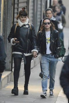 Mon amour! Kristen Stewart strolls hand-in-hand with SoKo as they explore Paris…